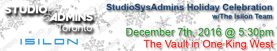 StudioSysAdmins Holiday Celebration with Isilon